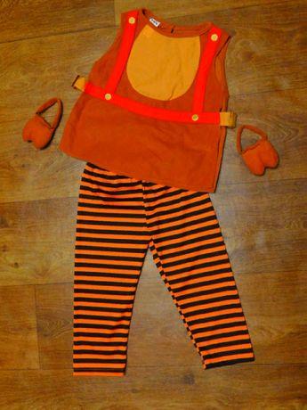 костюм корова бык 3-4 года мальчику 104 р новогодний карнавальный