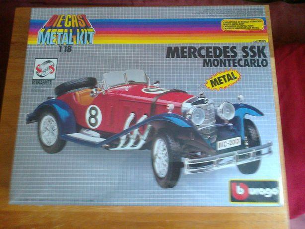 Машинка Mercedes SSK MONTECARLO Burago 1:18 Италия Металл 1980