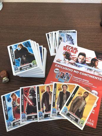 Coleção completa das 100 cartas - Star Wars