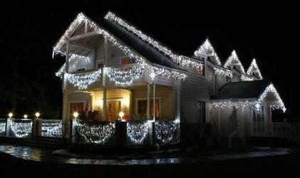 22.5м. 500 LED Гірлянда штора бахрома на будинок Акція!(Зовнішня)
