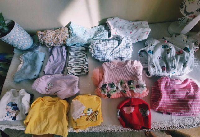Дитячий одяг на дівчинку 6-9 та 9-12 міс(15 штук)
