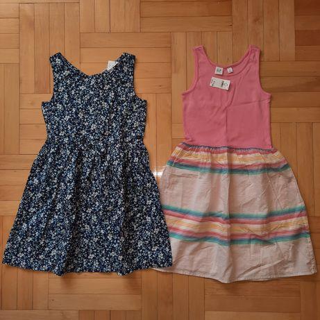 Gap H&M zestaw sukienek lato 9-10 lat 140 Nowe