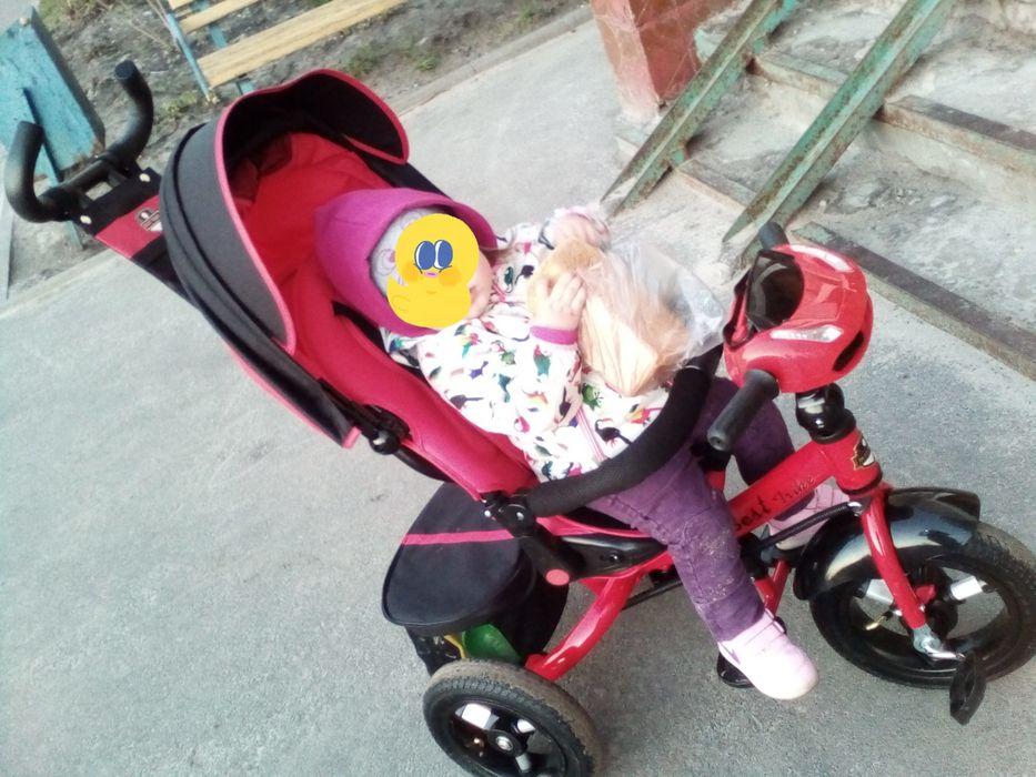 Велосипед с родительской ручкой продам Затишье - изображение 1