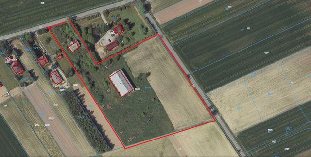 Działka 1,9 ha Pawlin zabudowana domem i halą