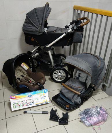 wózek 3w1 Baby Design Dotty z fotelikiem Maxi Cosi + nowa karuzela