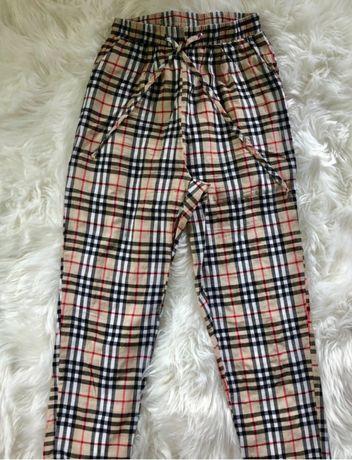 Pretty little thing eleganckie spodnie w kratkę burberry 36 S nowe