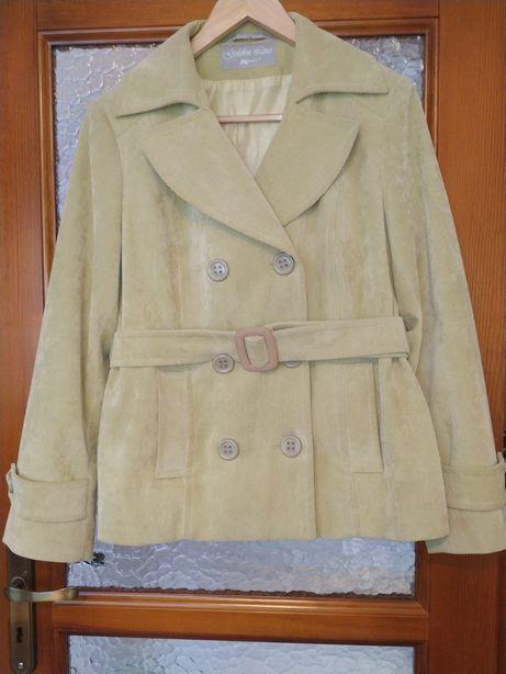 Pastelowy płaszcz wiosenny rozm. 42