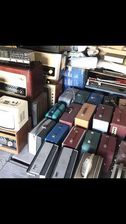 Unitra ZRK, radio lampowe, telewizor, magnetofon, gramofon bambino