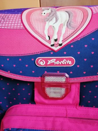 Tornister plecak dziewczęcy Herlitz serce koń plus Gratis