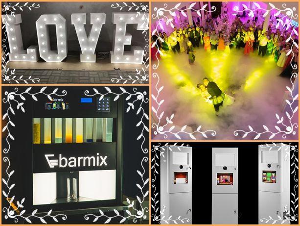 Barmix - automatyczny barman Fotobudka Napis Love Cięzki dym Drink Bar