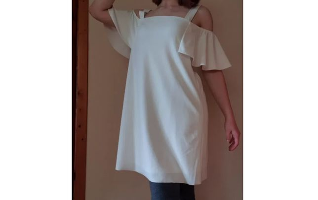 Mango sukienka hiszpanka odkryte ramiona rozmiar M biała
