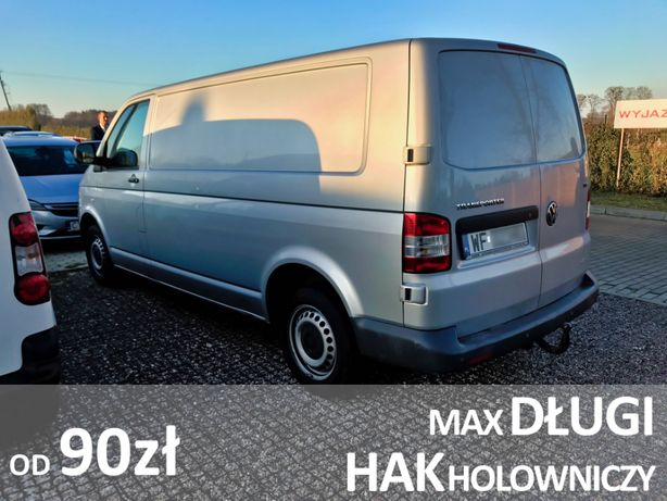 Wypożyczalnia auta dostawcze VW Transporter wynajem mały bus HAK HOLOW