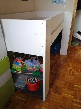 Łóżko Jysk Udby, biurko i szafka