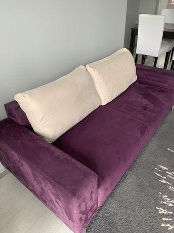 Sofa dwuosobowa fioletowa Black Red White