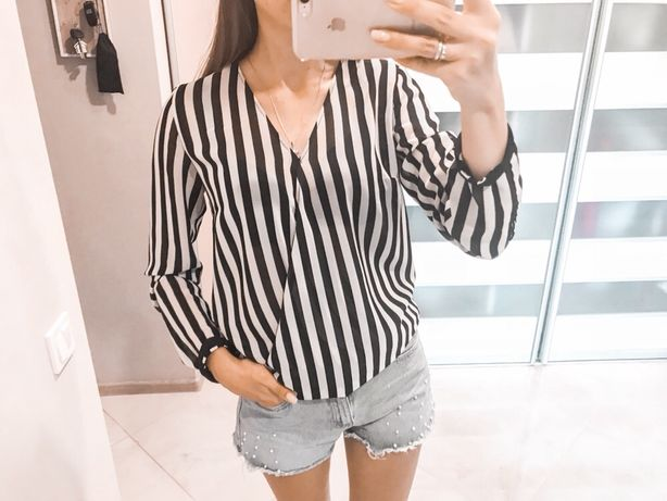 Полосатая шифоновая блузка Reserved