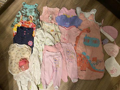 Одежда для девочки 2-6-8 месяцев