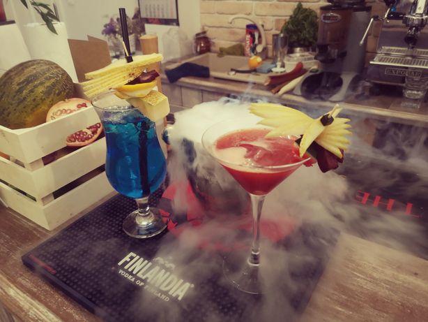 BARMAN, Usługi barmańskie, WESELA, mobilny DRINK BAR, kolorowe drinki