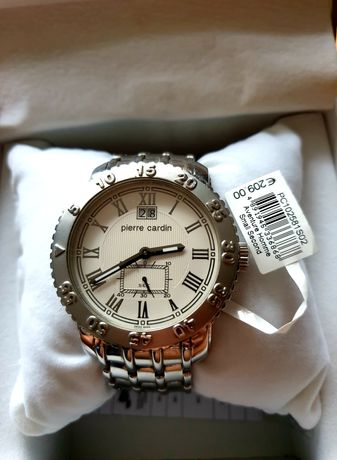 Zegarek Pierre Cardin PC102321F02 srebrny chronograf 39mm
