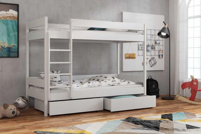 Łóżko dwu osobowe piętrowe wymiary 160/180/190 - materace GRATIS