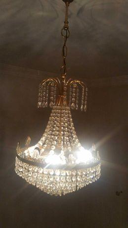 Candeeiro de quarto cristal + candeeiros de mesinha de cabeceira