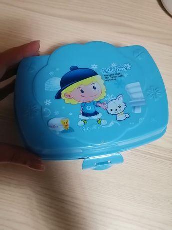 Śniadaniówka pojemnik na śniadanie niebieski nowy