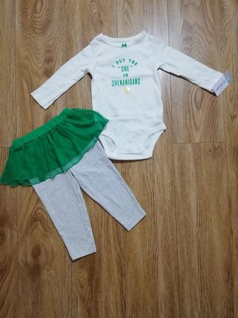 Новый комплект Carters 12 m штанишки с юпочкой
