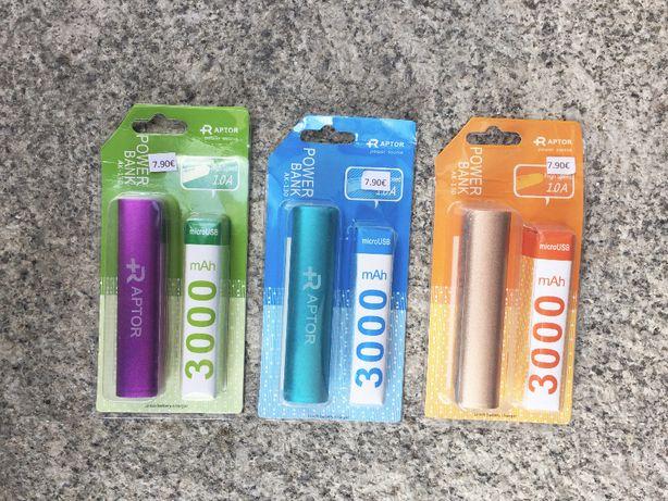 PowerBank de 3000mAh - Bateria externa pequena portátil - Várias Cores