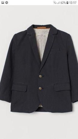 Пиджак школьный на мальчика. Новый. Фирменный H&M. Рост 134