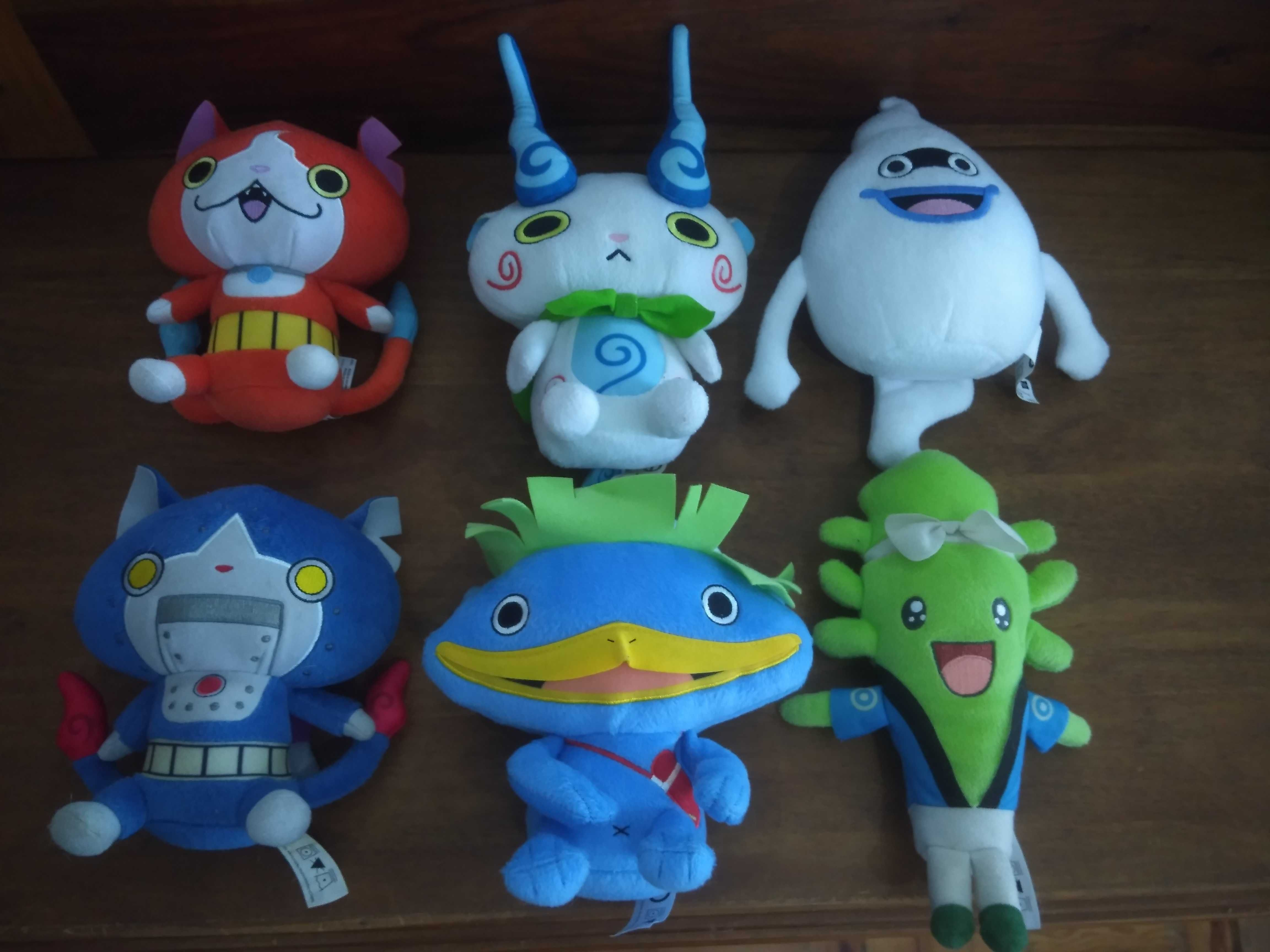 Peluches Super Mario, Sonic, Yokai Watch, Marvel, Angry birds
