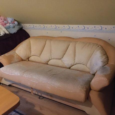 sofa rozkładana z funkcja spania do obszycia