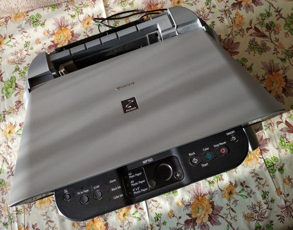 Струйный принтер «Canon PIXMA MP160» без картриджей