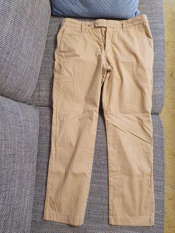 Spodnie bawełniane 170/90 żółte piaskowe