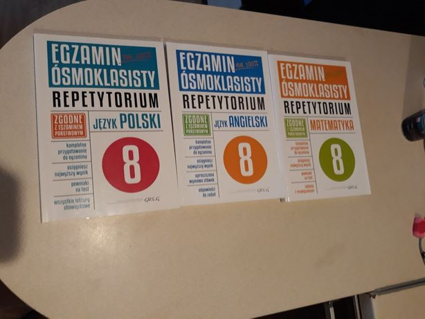 Książki do przygotowania do egzaminu óśmioklasisty