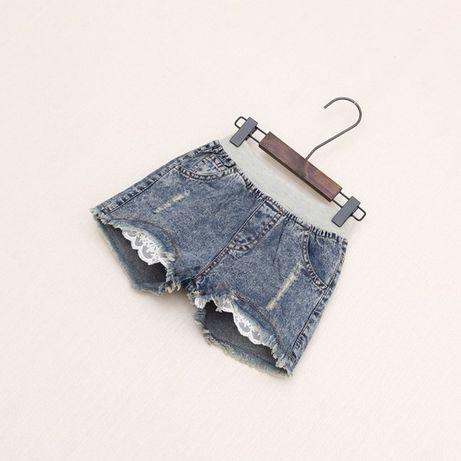 Стильные джинсовые шорты на девочку, 3-5 лет