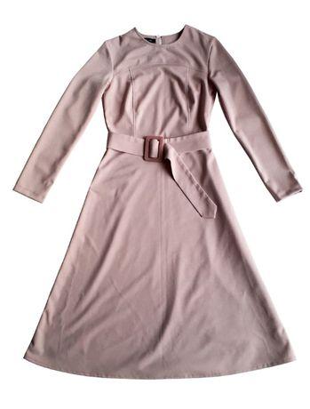 Платье new look нежно-розового цвета, р uk 12