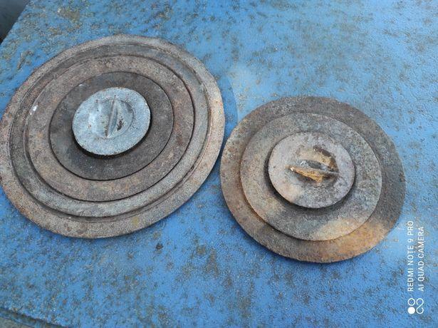 Комплект чугунных конфорок для плиты (270 и 200 мм)