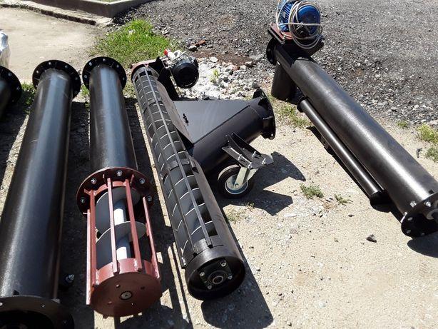 Транспортер шнековый, Конвейер винтовой, Шнековый погрузчик 220 мм