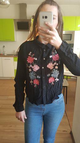 Koszula H&M z aplikacją kwiaty