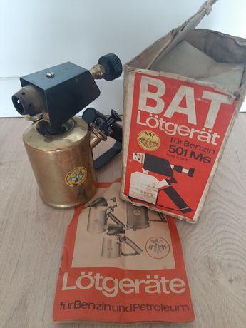 Lutlampa firmy BAT 501 ,palnik,instrukcja ,pudełko, super stan !