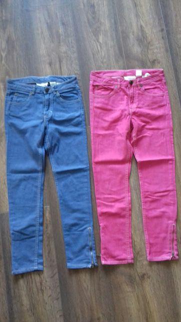 Spodnie dziewczęce h&m 134cm