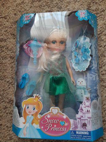 Snow princess-lalka duża 39 cm  jak kraina lodu