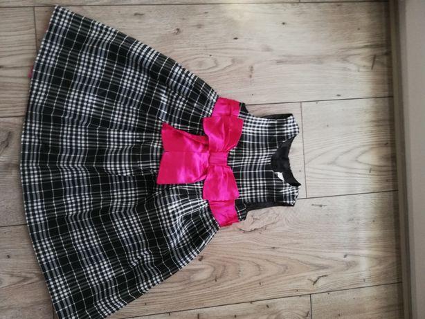 Sukienka dziewczęca w kratkę