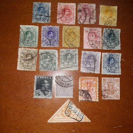 Selos de Espanha muito antigos