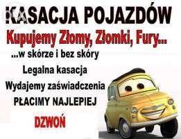 SKUP AUT ZA GOTÓWKĘ, Legalne Złomowanie samochodów KASACJA Pojazdów