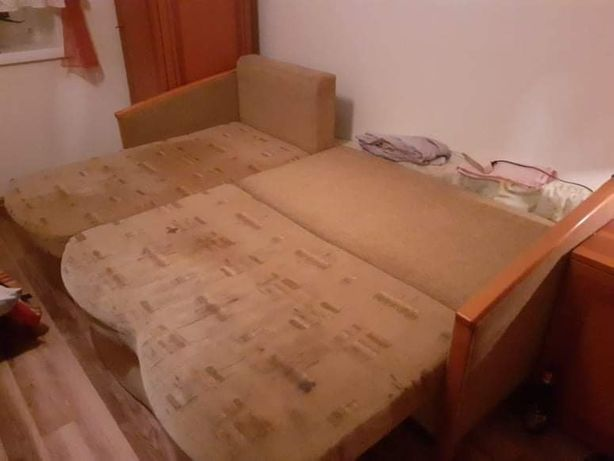Łóżko rozkładane rogówka
