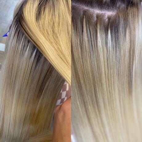 Наращивание волос микрокапулы