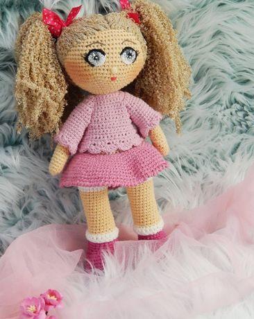 Lalka na szydełku lala szydełkowanie