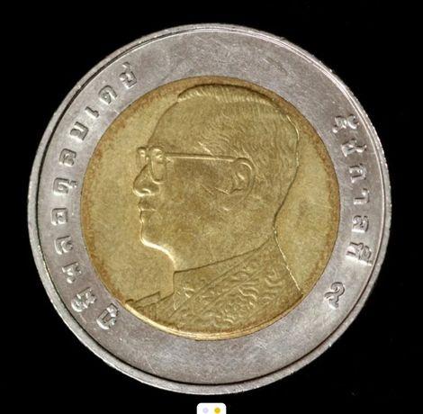 Монета  10 БАТ ( Тайланд )