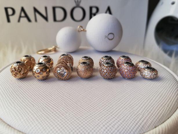 Pandora charmsy essence złote