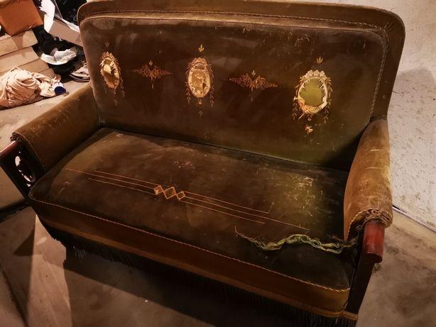 Antyczna sofa + 2 fotele
